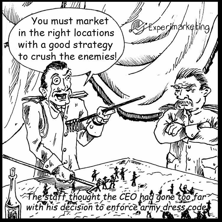 Marketing Army Comic